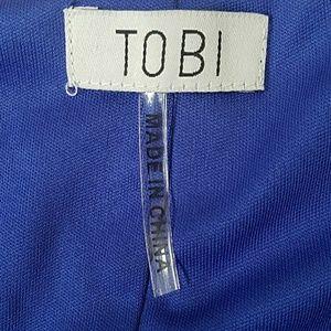 Tobi Tops - Tobi Split Sleeve Ruffle Hem Tunic